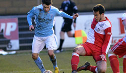 Lewis McBride - Rugby Town 2-1 Beaconsfield SYCOB - January 2015